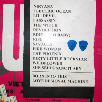 The Cult set list 21-11-2007