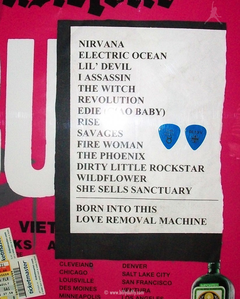 The Cult set list 21-11-2007