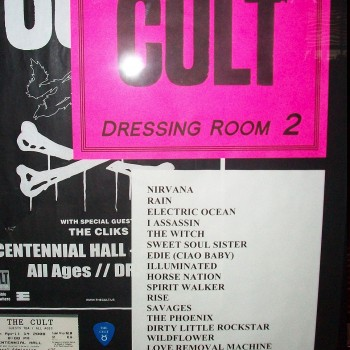 The Cult set list 14-04-2008