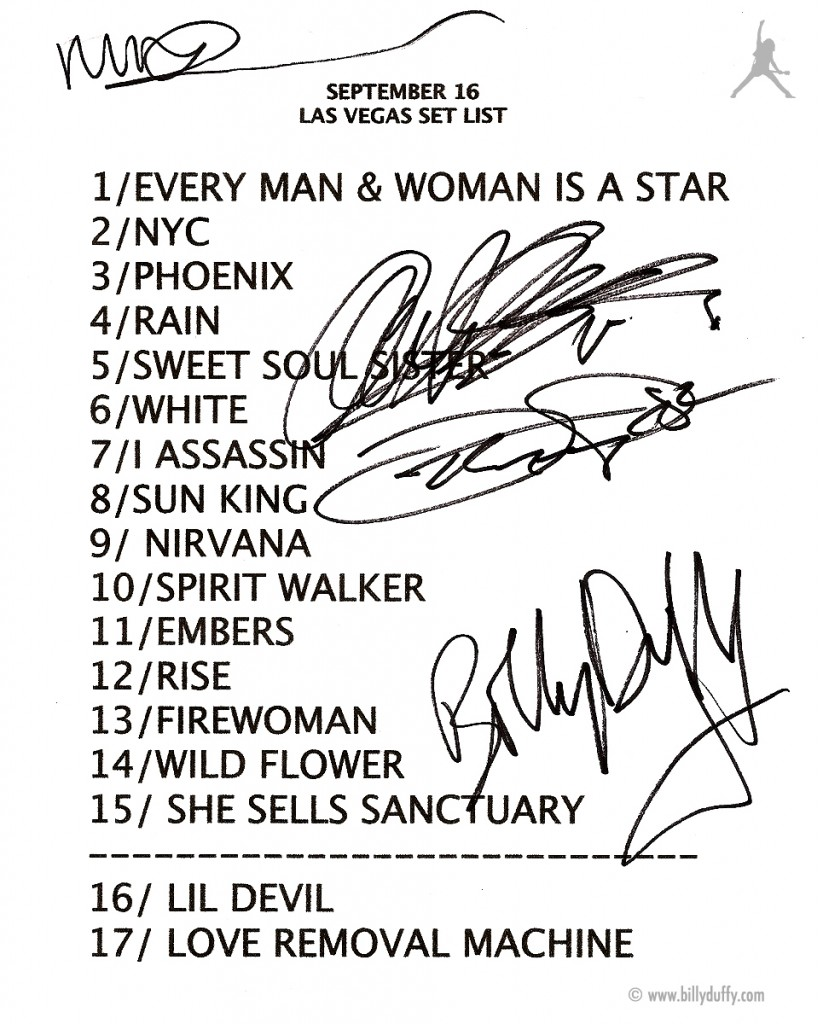 The Cult set list 16-09-2010