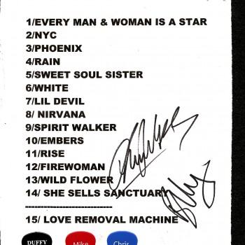 The Cult set list 09-11-2010