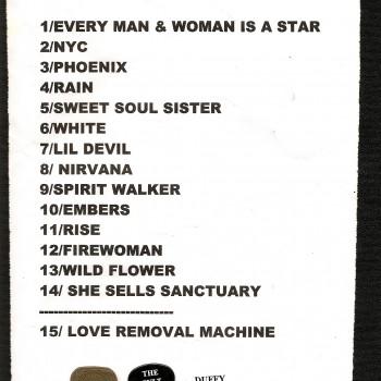 The Cult set list 18-11-2010