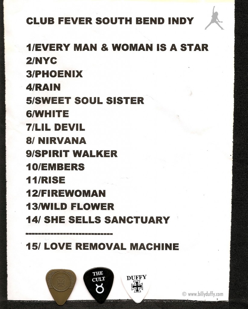 The Cult set list 18-11-2010