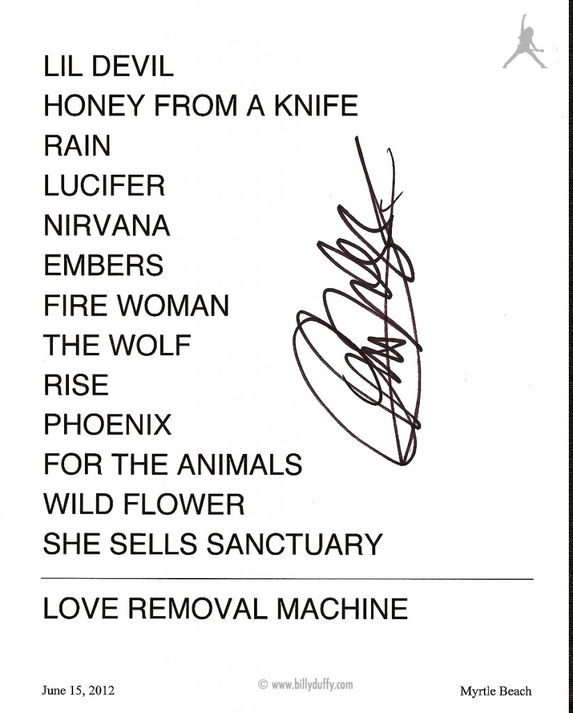 The Cult set list 15-06-2012