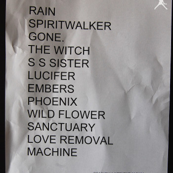 The Cult Set List 11-04-2014 (Coachella Week 1)