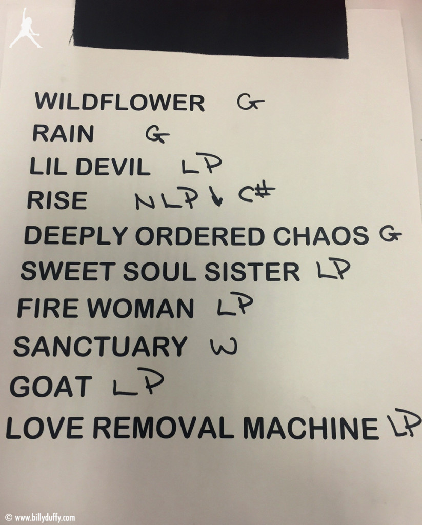 The Cult Set List 19-04-2016