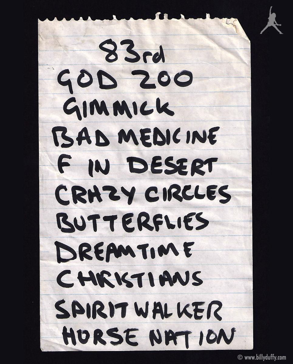 The Cult Dreamtime Tour 84
