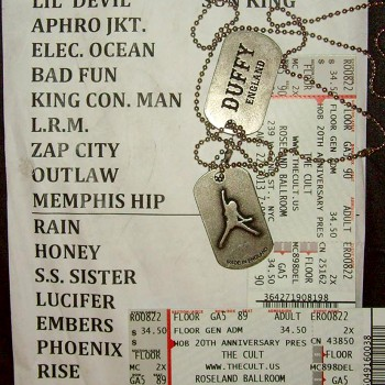 The Cult Set List 22-08-2013