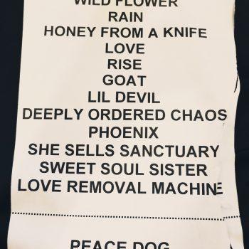 The Cult set list 25-05-2017