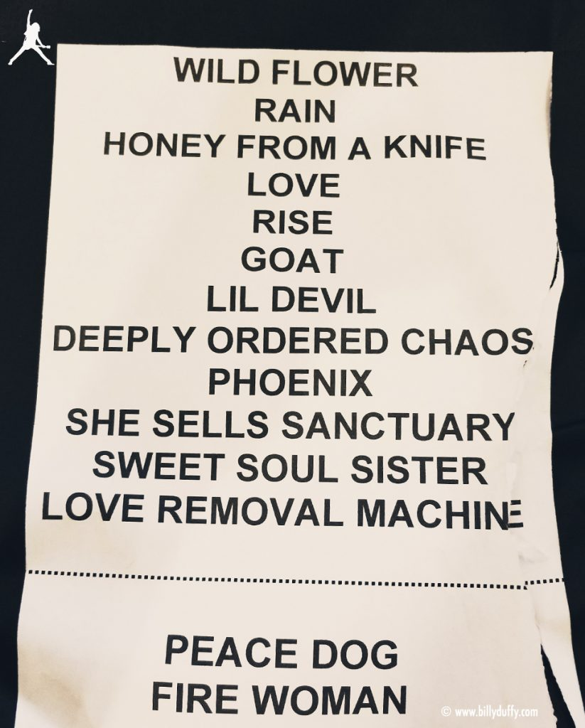 The Cult set list 25-05-2017