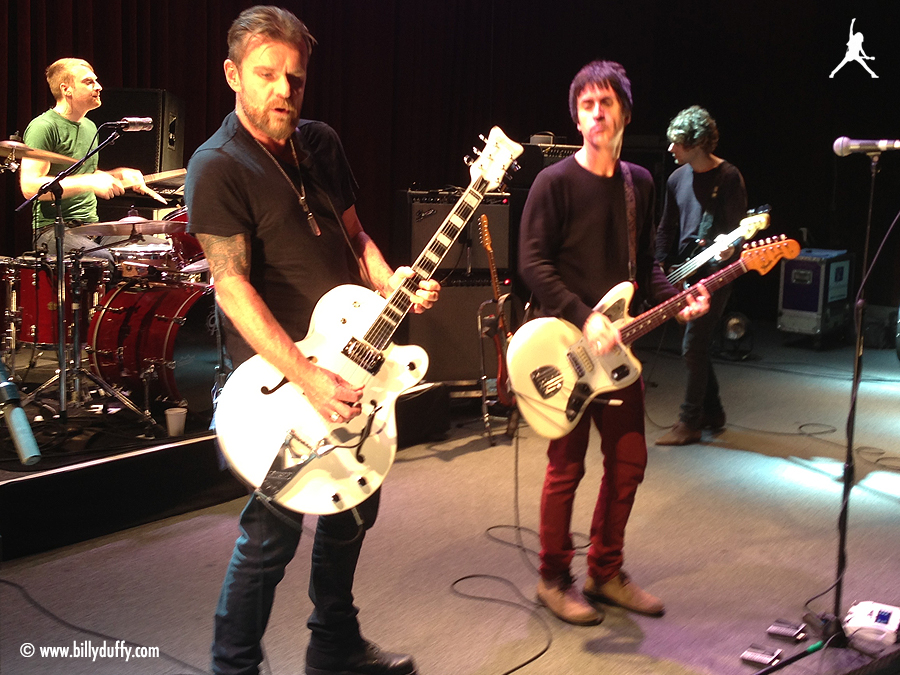 Billy and Johnny Marr soundcheck at the Fillmore, San Francisco