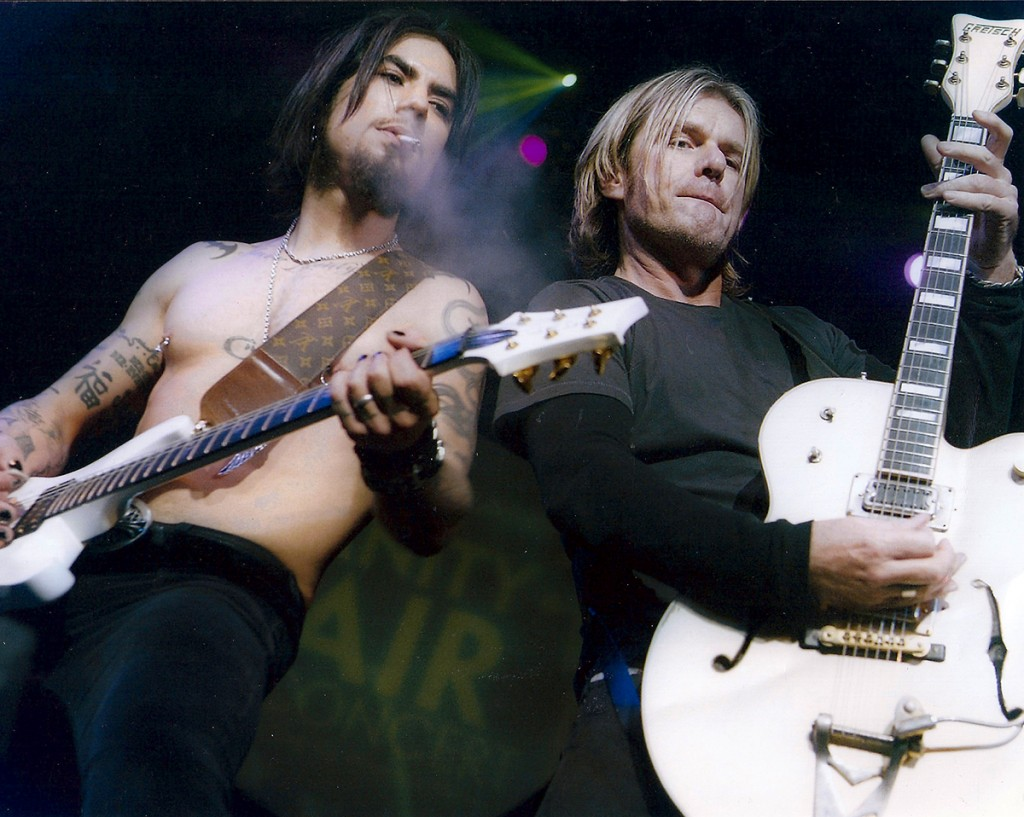 Billy onstage with Camp Freddy - 2004