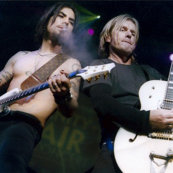 Billy onstage with Camp Freddy – 2004