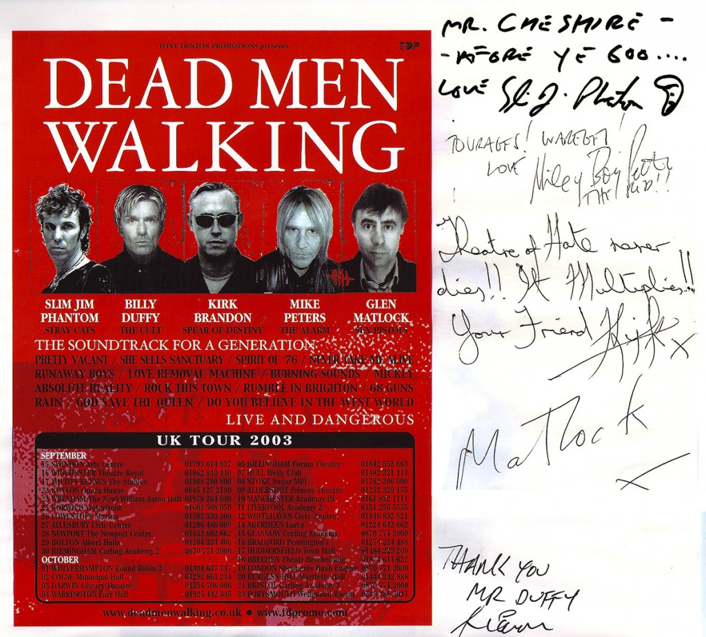 Dead Men Walking Tour Flyer - 2003