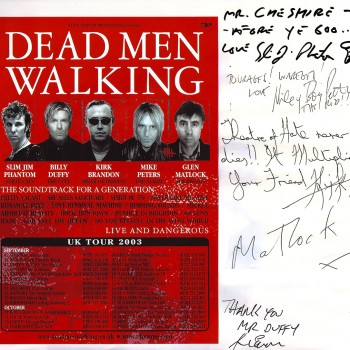 Dead Men Walking Tour Flyer – 2003