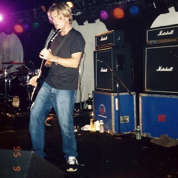 Billy onstage with Vent – 1995