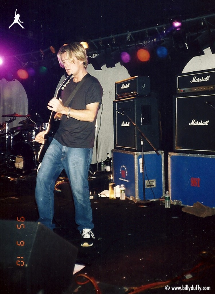 Billy onstage with Vent - 1995