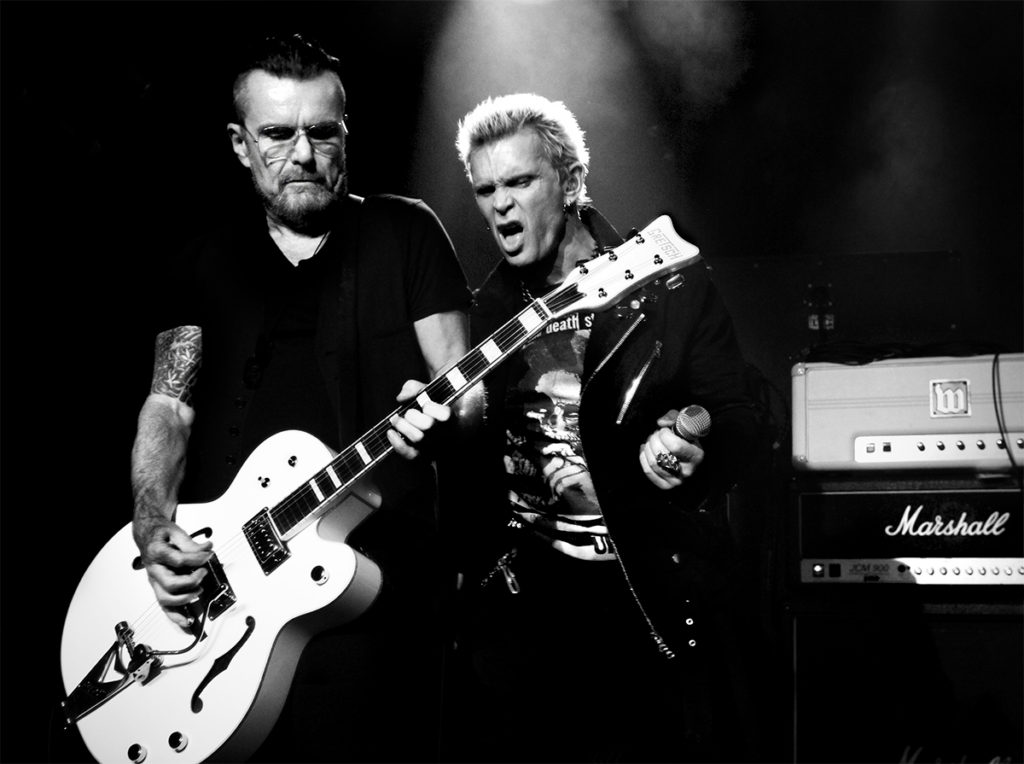 Billy Duffy with Billy Idol at Lemmy's 70th Birthday