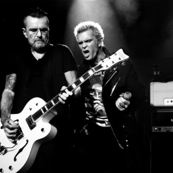 With Billy Idol at Lemmy's 70th Birthday