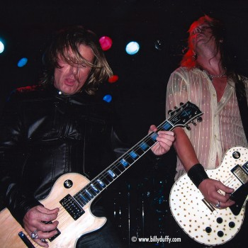 Billy onstage with Cardboard Vampyres – 2004