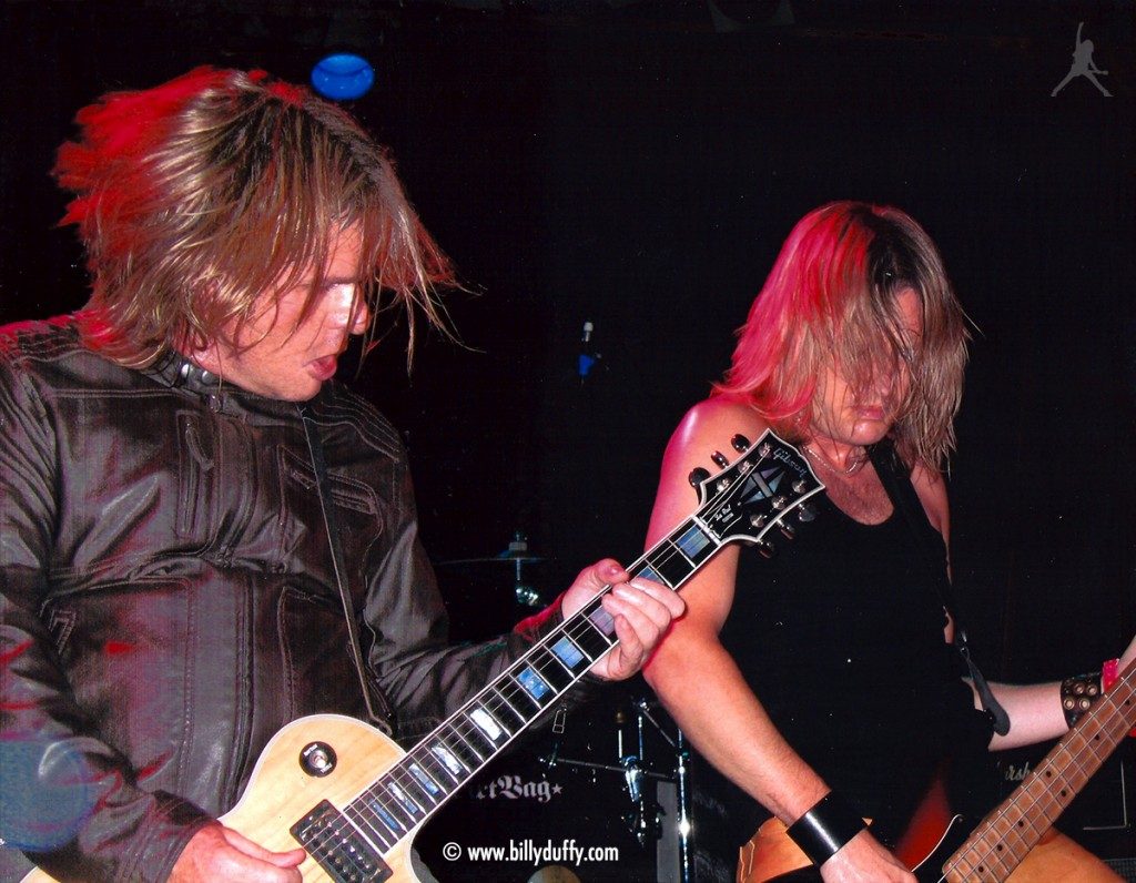 Billy onstage with Cardboard Vampyres - 2004