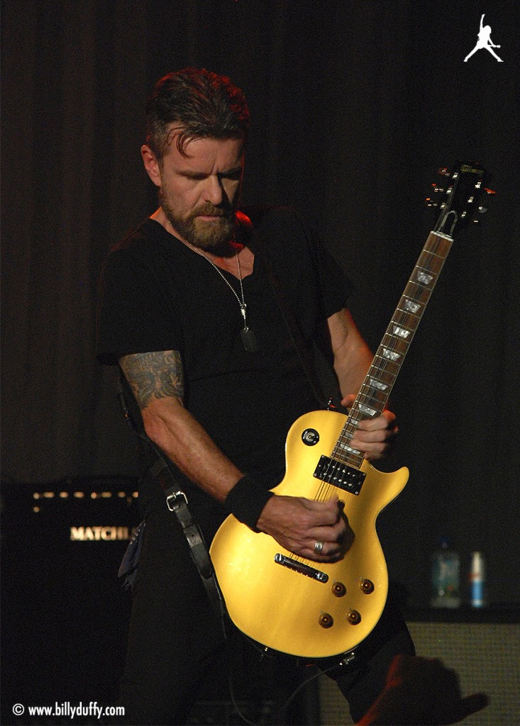 Billy plays 'Electric' on his Gibson 'Gold Top' Les Paul