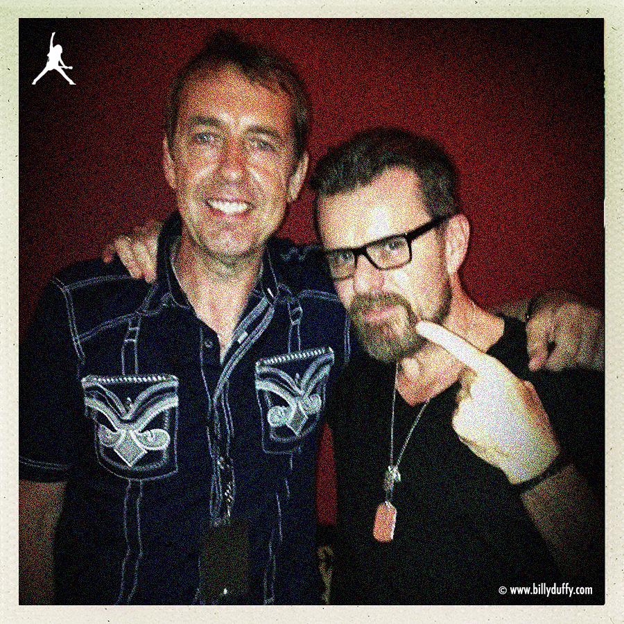 Billy & Mark Brzezicki backstage in Charlotte