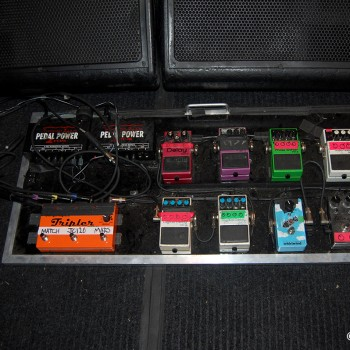 Billy's Pedal Board for 'Electric 13'