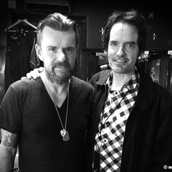 Billy and Jamie backstage at the Roundhouse