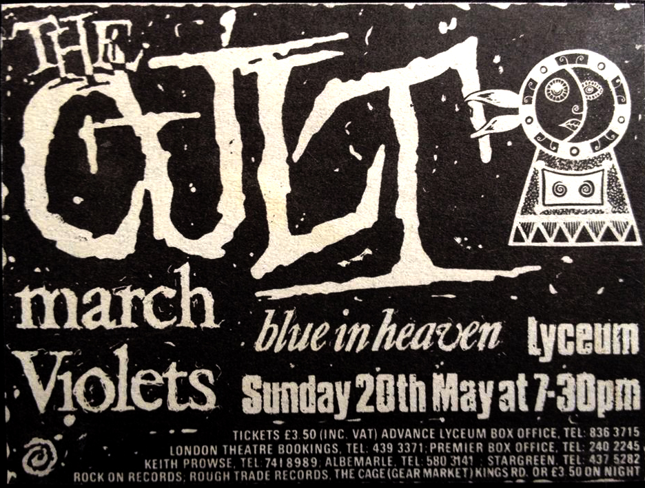 The Cult Dreamtime Live Flyer