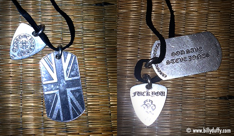 Billy Duffy Union Jack dog tags