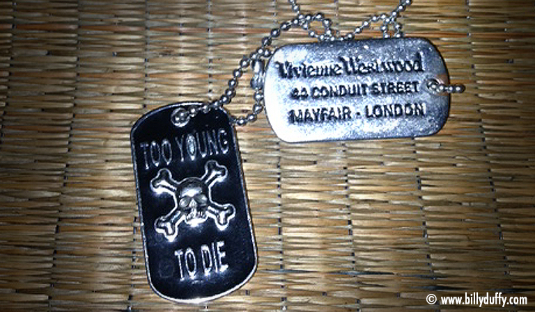 Billy Duffy Westwood dog tags