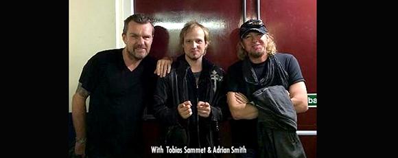 Billy with Edguy's Tobias Sammet and Iron Maiden's Adrian Smith