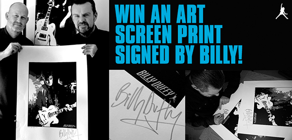 Win an art Screen print signed by Billy Duffy