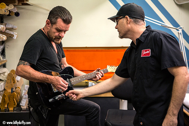 Billy Duffy at the Fender Custom Shop