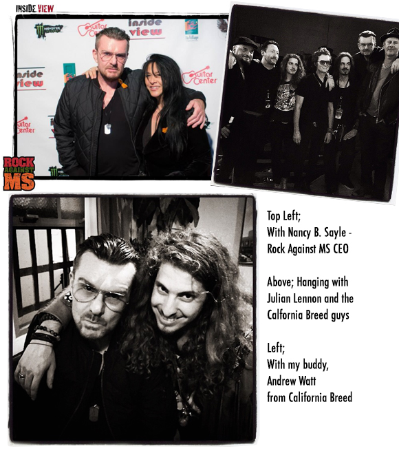 Billy Duffy supports Rock Against MS