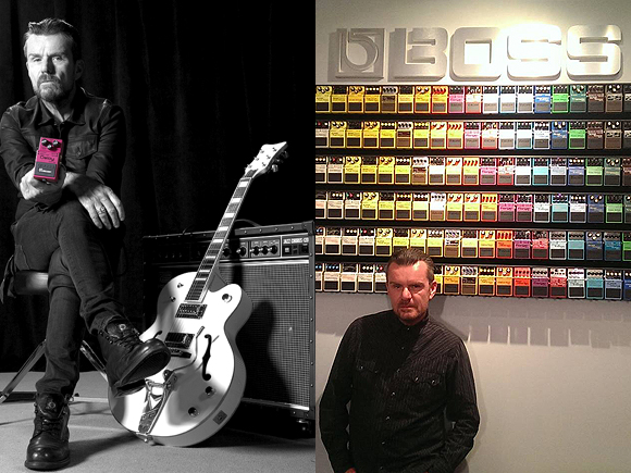 Billy Duffy and Boss Pedals