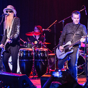 Billy Duffy & Billy Gibbons at AdoptTheArts benefit January 2015
