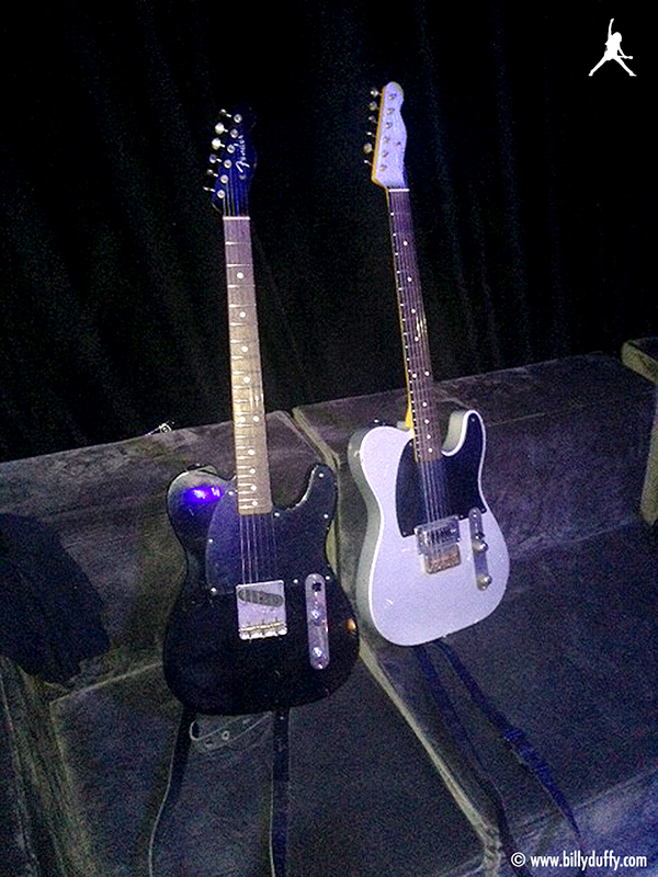Billy Duffy's 'Esquire' guitars in the studi