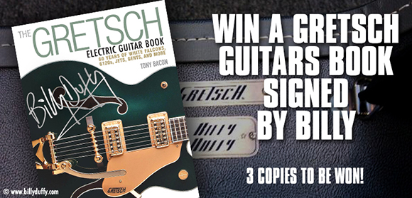 Win a Gretsch Guitar book signed by Billy Duffy