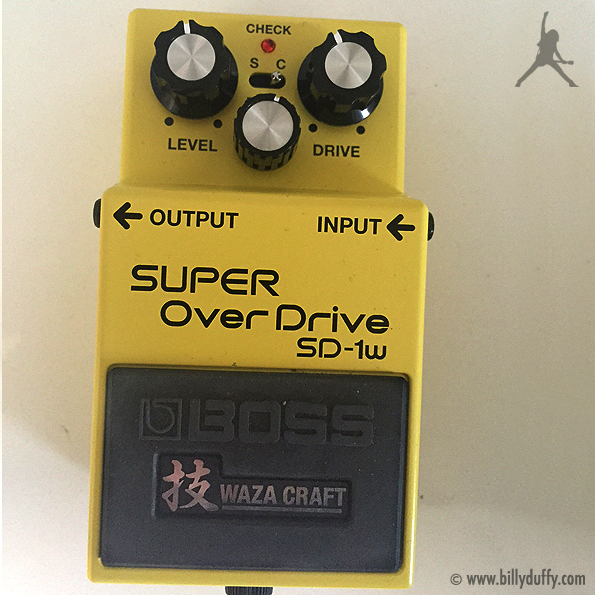Billy Duffy's BOSS SD-1W Super Overdrive Pedal