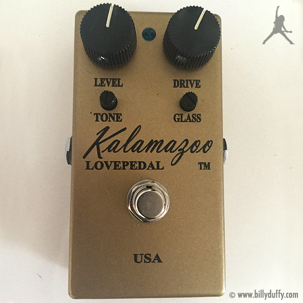 Billy Duffy's Lovepedal Kalamazoo Gold Overdrive Pedal