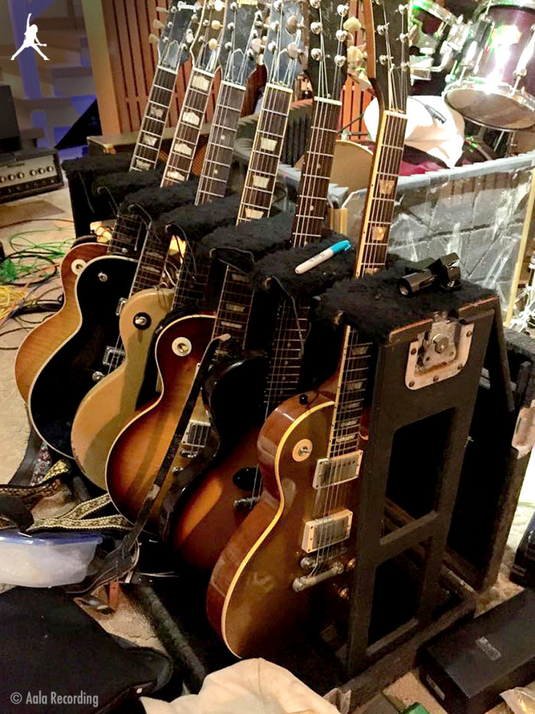 Rack of Gibsons in the Studio