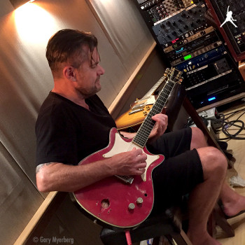 With the 'AC/DC' Gretsch….