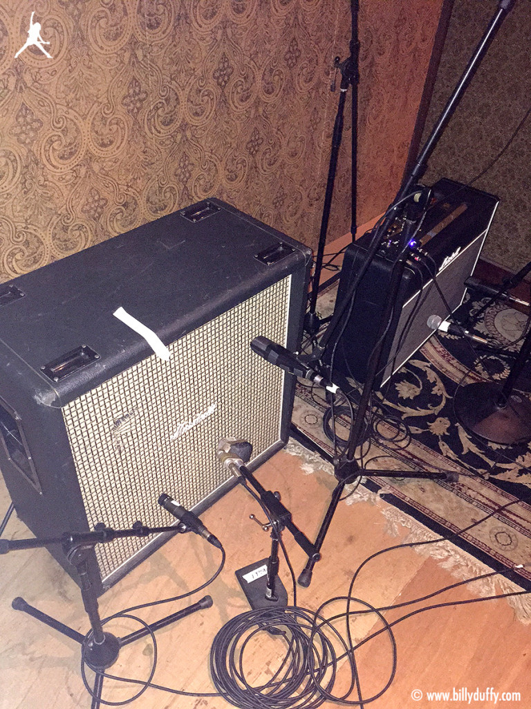 Billy Duffy's Marshall cabinet in the studio