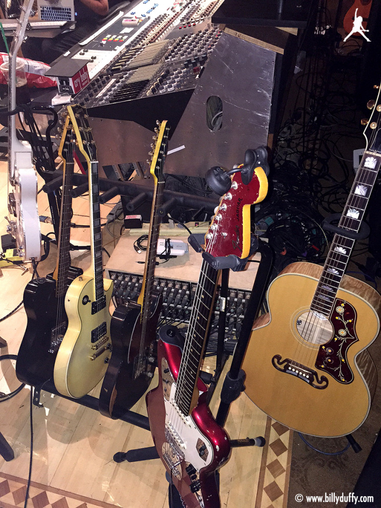 Billy Duffy's guitars in the studio