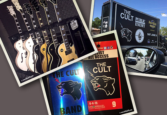 Billy Duffy's Cult tour photos
