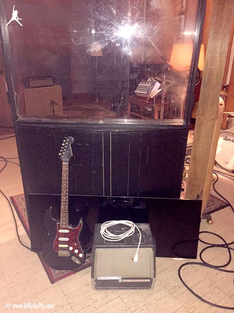 """My nash strat and mystery """"movie projector amp"""" by bell howell"""