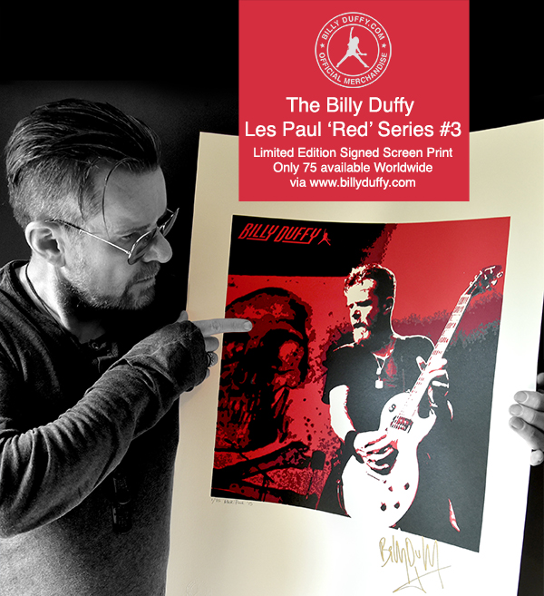 Billy Duffy Les Paul 'Red' Series #3 Limited Edition Screen Print