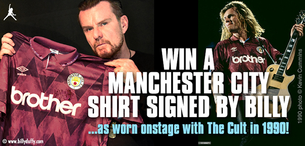 Win a Manchester City Shirt signed by Billy Duffy